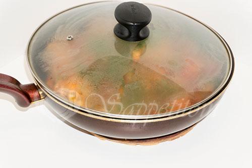 Курица с овощами на сковороде (чахобили) #шаг 16