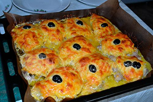 Свинина в соусе с ананасами и сыром в духовке #шаг 6