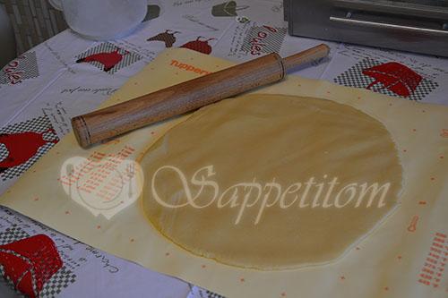 Цветаевский пирог с персиками и яблоками #шаг 8