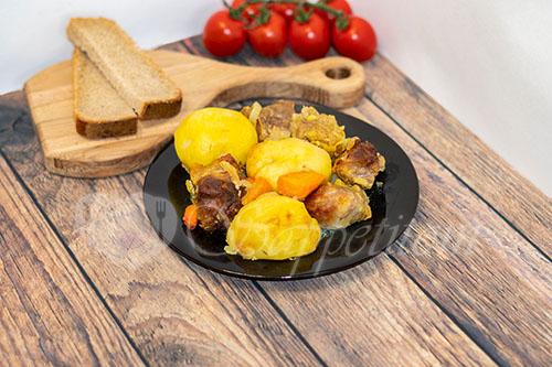 Картошка с мясом в духовке #шаг 10