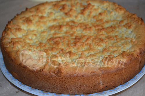 Яблочный пирог с Заварным кремом или Шарлотка по-Польски #шаг 26