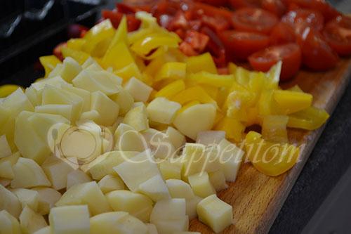 Овощи с мясом в духовке #шаг 2