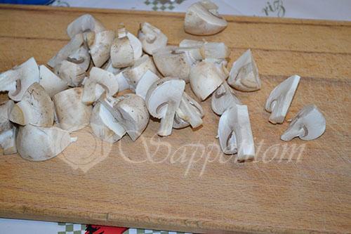 Курица с грибами в горчичном соусе #шаг 4