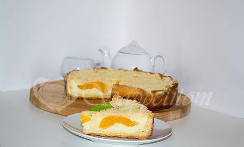 Цветаевский пирог с персиками и яблоками #шаг 20