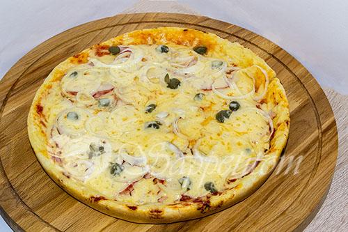 Ленивая пицца на сковороде