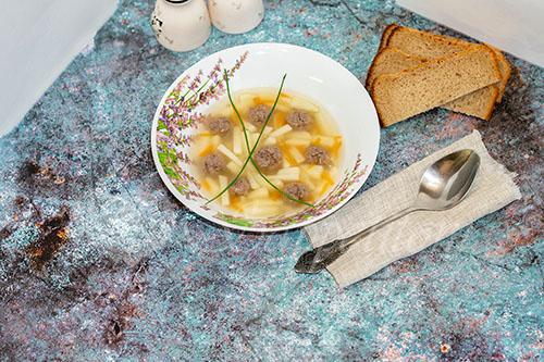 Суп с фрикадельками из фарша #шаг 12