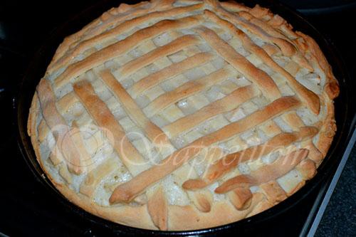 Пирог с яблоками и сметанным кремом #шаг 19
