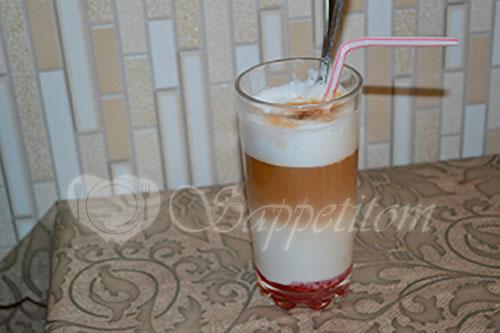 Кофе Латте с сиропом #шаг 6