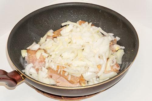 Курица с овощами на сковороде (чахобили) #шаг 9