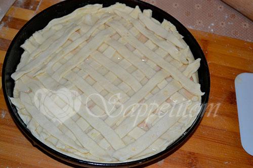 Пирог с яблоками и сметанным кремом #шаг 18