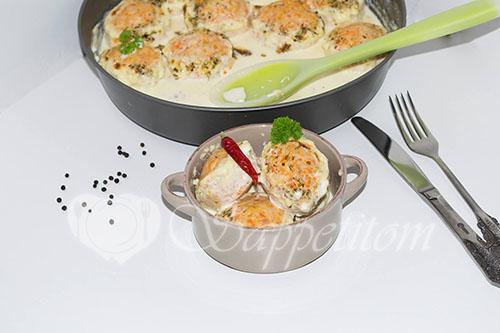 Куриные тефтели в сливочном соусе
