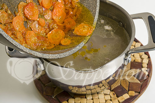 Суп с горошком и кукурузой #шаг 11