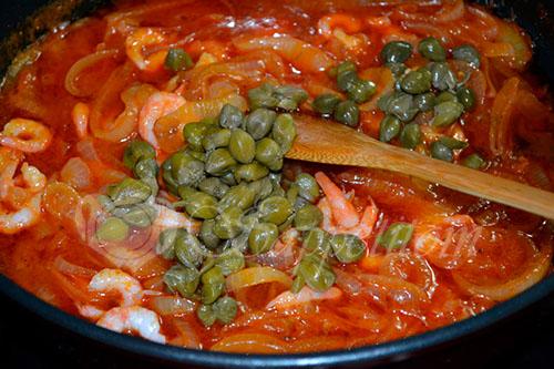Спагетти с креветками #шаг 7