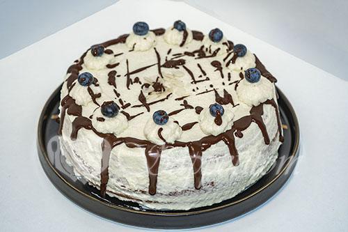 Бисквитный торт с кремом Шарлотт
