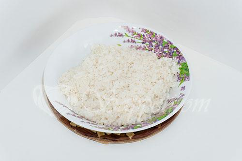 Голубцы с рисом, фаршем и пекинской капустой #шаг 5