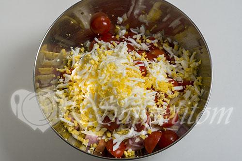 Салат с ветчиной и сыром #шаг 4