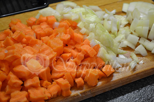 Овощи с мясом в духовке #шаг 3