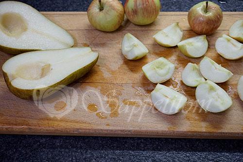 Тарт Татен с грушами и яблоками в духовке #шаг 2