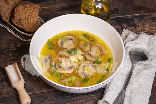 Грибной суп из шампиньонов #шаг 8