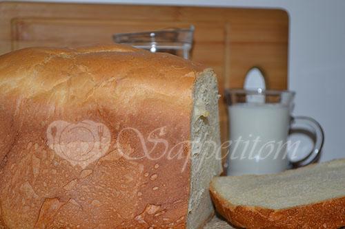 Молочный хлеб в хлебопечке #шаг 5
