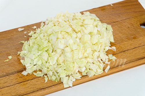 Ленивые голубцы с капустой, рисом и фаршем на сковороде #шаг 8