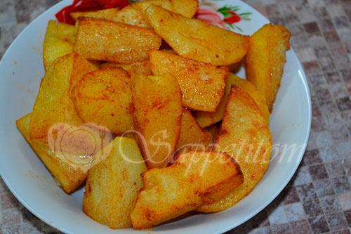 Золотистый картофель #шаг 7