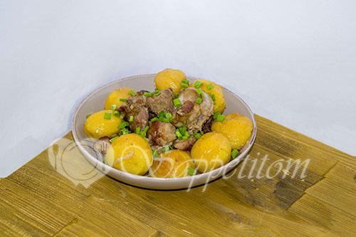 Картошка с мясом по Сибирски