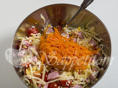 Салат с ветчиной и сыром #шаг 5