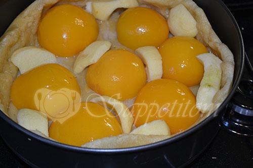 Цветаевский пирог с персиками и яблоками #шаг 15