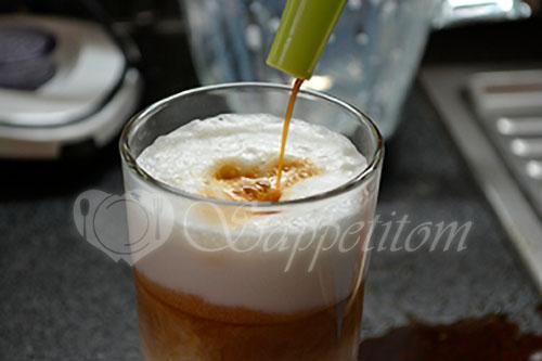 Кофе Латте с сиропом #шаг 5