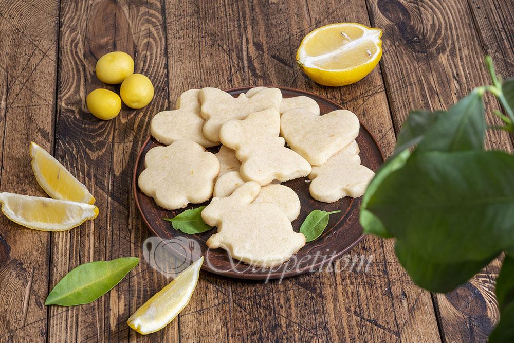 Лимонное печенье фигурное