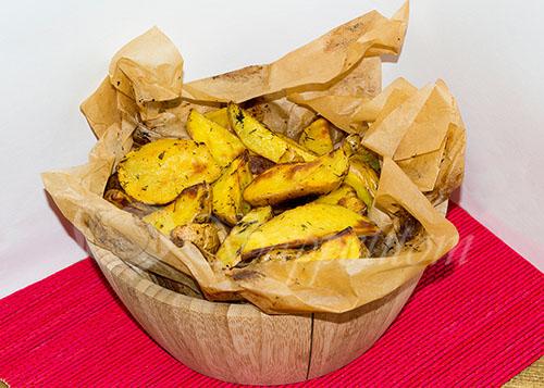 Картошка по-деревенски в духовке #шаг 8