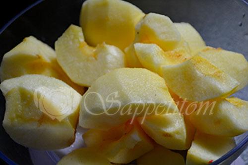 Яблочные кексы #шаг 1