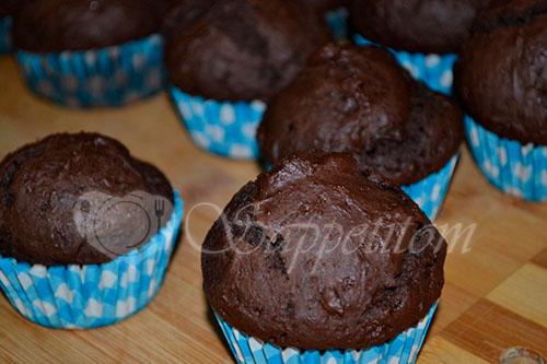 Шоколадные капкейки #шаг 11