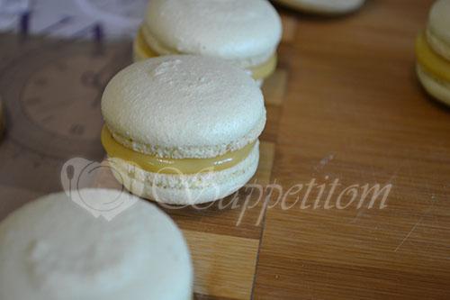 Пирожное Макарон (Macaron) манговый #шаг 23