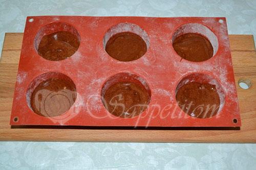Шоколадный фондан #шаг 7