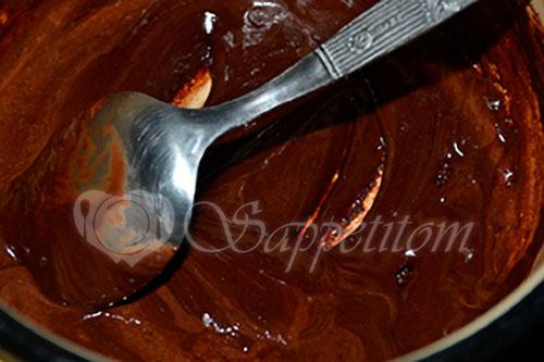 Шоколадная глазурь #шаг 2