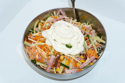 """Салат с корейской морковью""""Венеция"""" #шаг 6"""